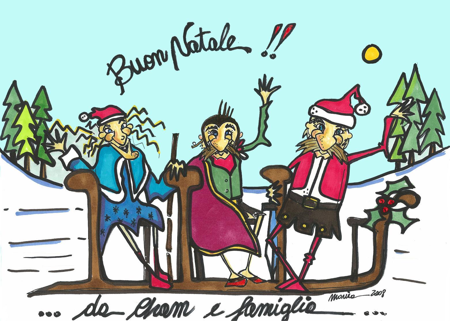 Cham, Onorata e Porzio in versione natalizia
